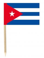 Sæt med 50 mini flag Cuba 3 x 4,5 cm