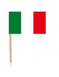 Sæt med 50 mini flag Italien 3 x 5 cm