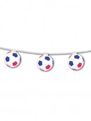 Guirlande papir brandsikker bolde blå hvid rød 3,20 m