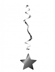 Metallisk spiral med stjerne 80 cm