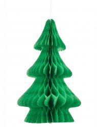 Bordpynt grønt juletræ i brandsikkert papir 24 cm