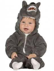 Kostume grå ulv til babyer