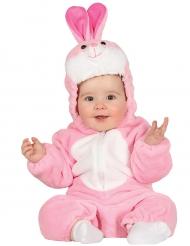 Lyserødt kaninkostume til babyer
