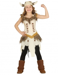 Kostume viking beige pige