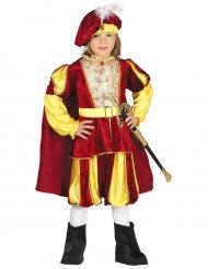Kostume konge med rødt og gult velour til drenge