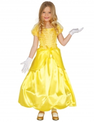 Kostume prinsesse i gul til piger