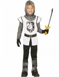 Kostume ridder i hvidt til børn