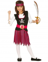 Kostume rosa stribet pirat til børn