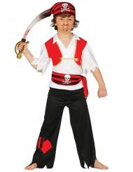 Den røde pirat - Piratkostume til drenge