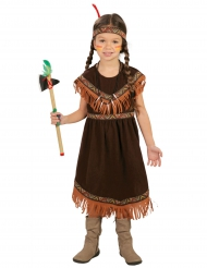 Miss indianer kostume brun - pige