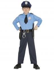 Kostume muskuløs politimand til drenge