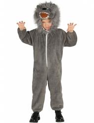 Ulvekostume med plyshætte til børn