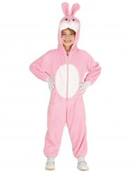 Kostume lyserød kanin til børn