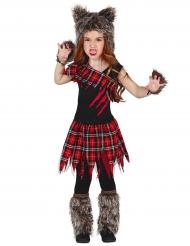 Campus ulvekostume til piger - Halloween