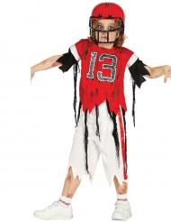 Amerikansk fodboldspiller zombie kostume til børn