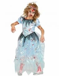 Kostume zombie blå prinsesse til piger Halloween