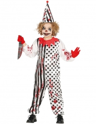 Uhyggelig Halloween klovnekostume til børn