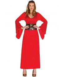 Kostume rød dronning til kvinder