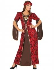 Kurtisane middelalderkostume til kvinder