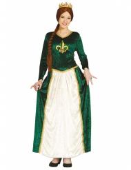 Grøn middelalderkjole til kvinder