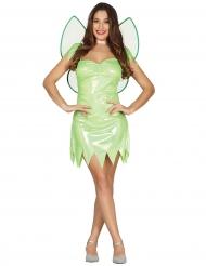 Kostume glinsende fe i grøn
