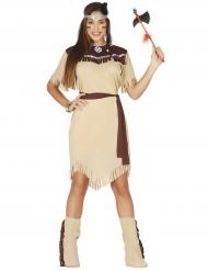 Kostume indianer drømme beige kvinde