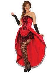 Kostume miss burlesque rød