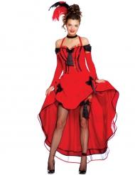 The red lady - Cancandanser kostume til kvinder