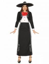 Kostume mexicansk lang kjole til kvinder