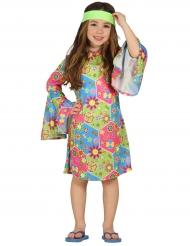 Kostume hippie med farvede symboler til piger