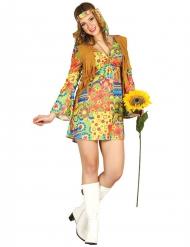 Kostume hippie med farvet mønster