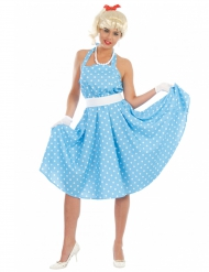Kostume kjole med prikker 50´erne