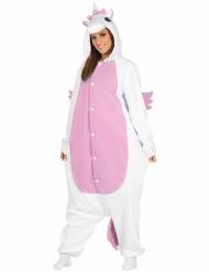 Kostume Enhjørning hvid og lyserød voksen