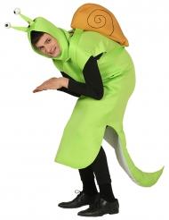 Lysegrønt sneglekostume til voksne