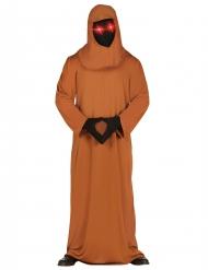 Munkekostume med LED øjne - Halloween kostume til voksne