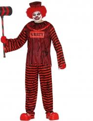 Skræmmende Halloween klovnekostume til voksne