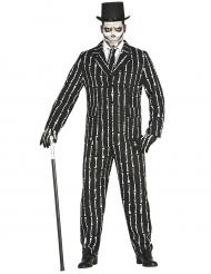 Jakkesæt Mr. Bones skelet til mænd