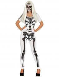 Hvidt skelet kostume til kvinder