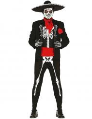Mexicaner skeletkostume til mænd Dia de los Muertos