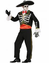 Kostume Dia de los Muertos skelet til mænd
