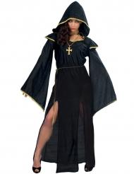 Kostume dyster præst til kvinder sort Halloween