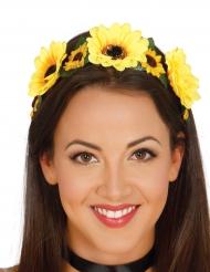 Diadem med gule blomster