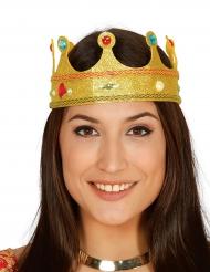 Krone med pailletter og falske sten til voksne