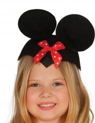 Hat mus med rød sjov sløjfe til børn