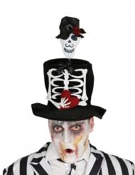 Højhat med skelet til mænd Halloween