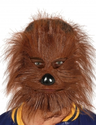 Varulv maske med hår til voksne - Halloween