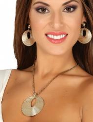 Halskæde og øreringe græsk gudinde til kvinder