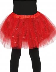 Tutu rødt med glimmer til piger til piger