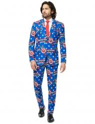 Mr. Captain America™ jakkesæt til voksne - Opposuits™
