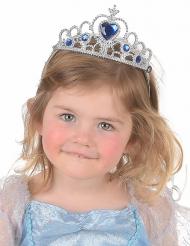 Prinsesse diadem i blå og sølvfarvet